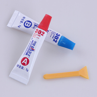 AB Total 10g Metal Rubber Universal Glue 302 Glue Epoxy Resin Super Metal PVC ABS Ceramic