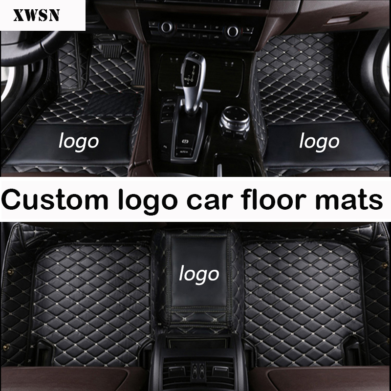 custom logo car floor mats for vw polo accessories vw passat b5 b6 golf touran tiguan jetta car mats