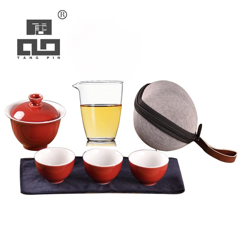 TANGPIN ceramic gaiwan teacups chinese ceramic tea pots portable travel tea set