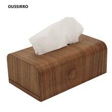 OUSSIRRO Wooden Tissue Box New Brand Modern Home Car Napkins Holder Case Organizer Decoration Tools