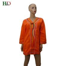 H & D 2017New Africano 100% Algodão Vestidos Para Mulheres Top Roupas dashiki Africano Tradicional Africano Privada Personalizado one piece