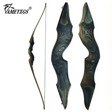 30-60bls 60 Inch Archery Black Hunter Recurve Bow Left Right Hand Glassfiber Sheet Lamination Process for Hunting Shooting Bow 60 inches recurve bow hybrid bow 30 70 lbs in black camo for right hand user archery bow shooting hunting