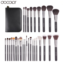 Docolor 29 шт. высокое качество макияж комплект с случае профессионального косметический набор кистей природа щетины составляют кисти для макияжа инструмент