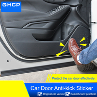 QHCP 4Pcs/Set Carbon Fiber Car Door Anti kick Sticker Protector Film Auto Accessories Fit For Subaru Forester 2019 Car Styling