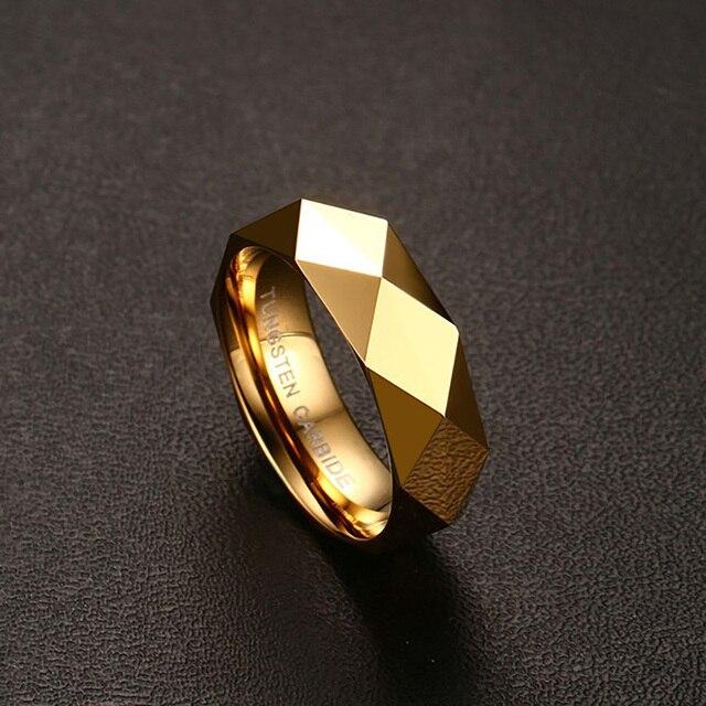 Vnox Rombico Taglio Al Carburo di Tungsteno degli uomini Promessa Wedding Bands Anello In Oro Anelli per Gli Uomini di colore Contenitore di Regalo Libero