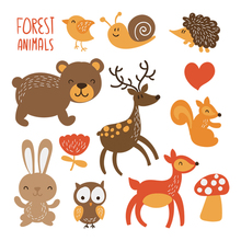 Colife Forest Animals Clothes Patch Iron On Transfers A-level Washable Stickers T-shirt Dresses Sweater Decoration
