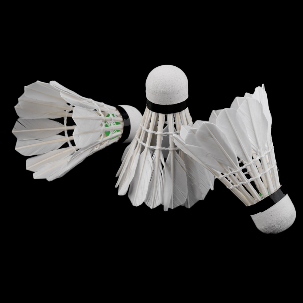 Bälle 3pcs Game Sport Training White Duck Feather Shuttlecocks Badminton Ball@PL