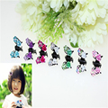 2016 Fashion 5Pcs/Lot Crystal Butterfly Shape Mini Hair Claw Small Clips For Girls Kids Headband Women Girls Hair Accessories
