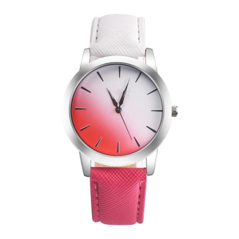 Watch Women Saat Clock Relogio Feminino Drop Shipping Gift Retro Rainbow Design Leather Band Analog Alloy Quartz Wrist June20 lvpai wathces women relogio feminino elegant dress clock retro design pu leather band analog quartz wrist watch