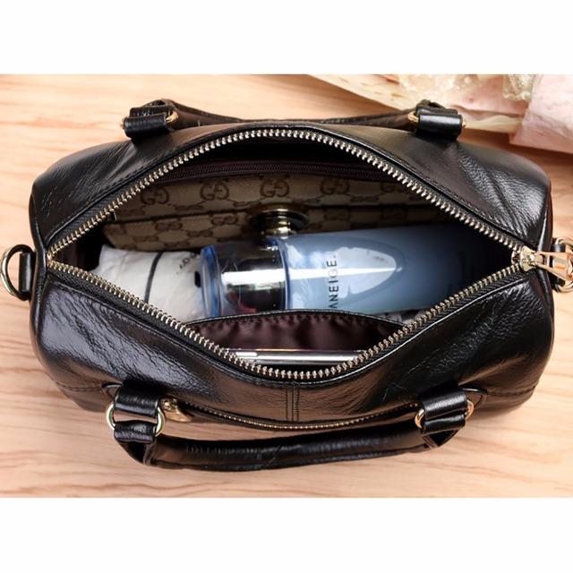Genuine Leather Women Fashion Messenger Sling Shoulder Bag Designer Cross Body Satchel Ladies Casual Tote Bag Cowhide Handbag