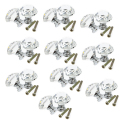 THGS 10pcs 30mm Diamond Crystal Glass Door Drawer Cabinet Furniture Handle Knob Screw