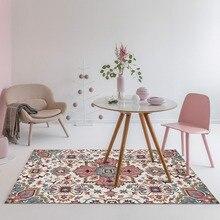 Loartee Polyester Country Flower Indian Ethnic Style Carpet Home Bedroom Living Room Childrens Crystal Velvet Rug