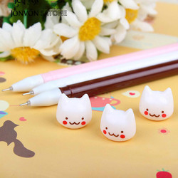 Jonvon Satone 8pcs Cute Gel Pen Creative Stationery Small Fresh Cartoon Neutral Pen Office Prize Kawaii School Supplies Gifts