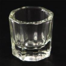 1PC proszek akrylowy Dappen Dish płyn do akrylu szklany szklany kubek szklany na tipsy akrylowe Art przezroczysty biały przezroczysty kolor zestaw