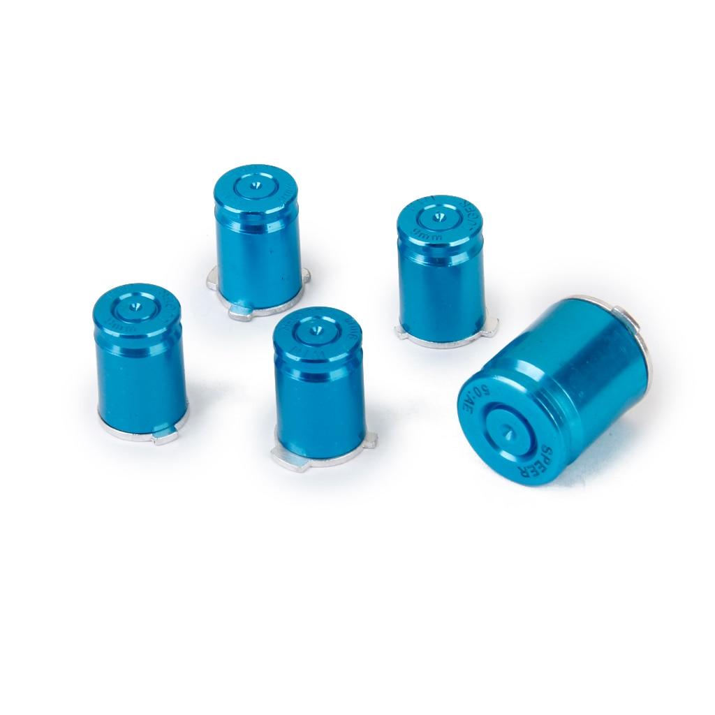 Set of 5Pcs Aluminum Bullet Buttons Keys for Xbox 360 Controller ...