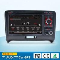 Автомобиль в тире мультимедиа Системы для Audi TT MK2 2006 2012 Автомобильный Gps dvd плеер радио Bluetooth Зеркало Ссылка RDS Android 7,1 USB SD CD