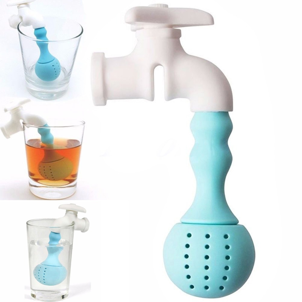 compare prices on italian faucet online shopping buy low price silicone faucet tea infuser loose tea leaf strainer herbal spice filter diffuser 1pcs coffee tea