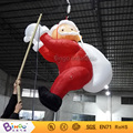 Outdoor Xmas inflatable life size toy father christmas on chimney