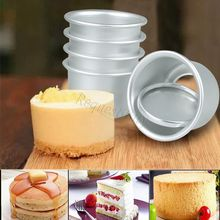 5PCS Removable Non-stick Round DIY Cake muffin Baking Mold Mould Tool Set стоимость