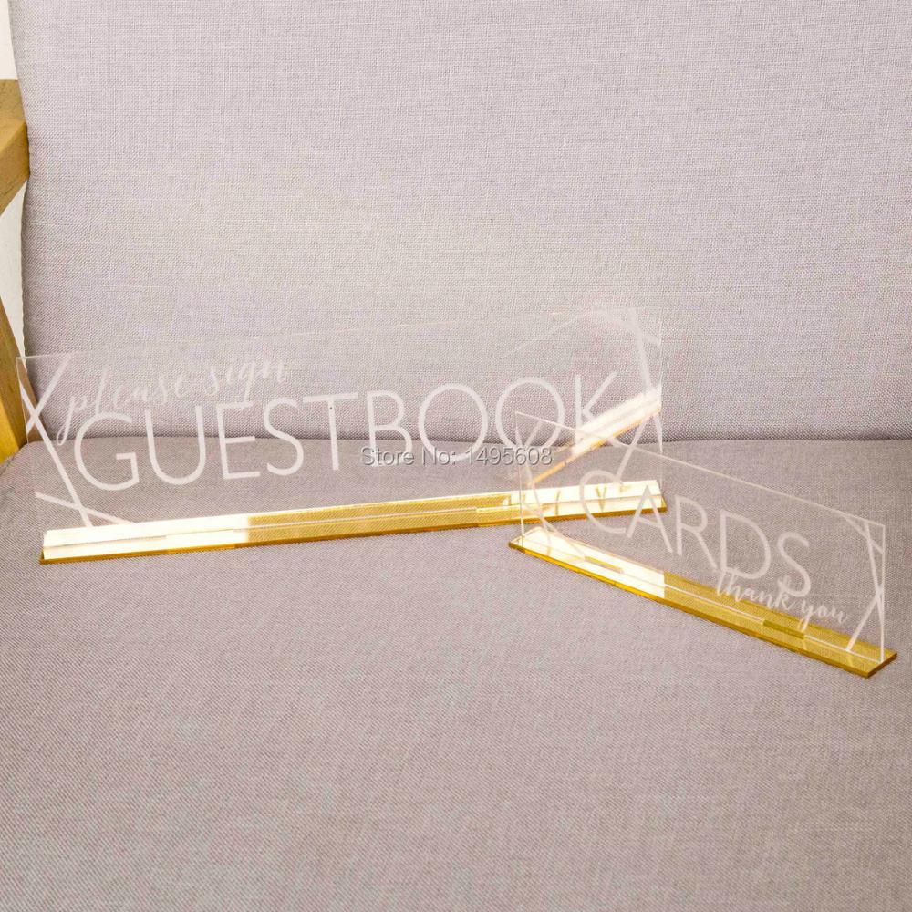 Карты и Гостевая книга знаки комплект, прозрачный акриловый Свадебные или вечерние минималистский знаки с баз гравированные карты гостево...