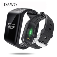 DAWO K1 Smart Armband Band IP68 Wasserdicht OLED Herzfrequenz Fitness Tracker Smart Armband Für Android IOS Telefon PK mi band 2