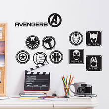 Il advengers wall sticker hulk capitan america iron man thor 3 tipi car parete del vinile della decalcomania bambini camera da letto decorazione domestica(China)