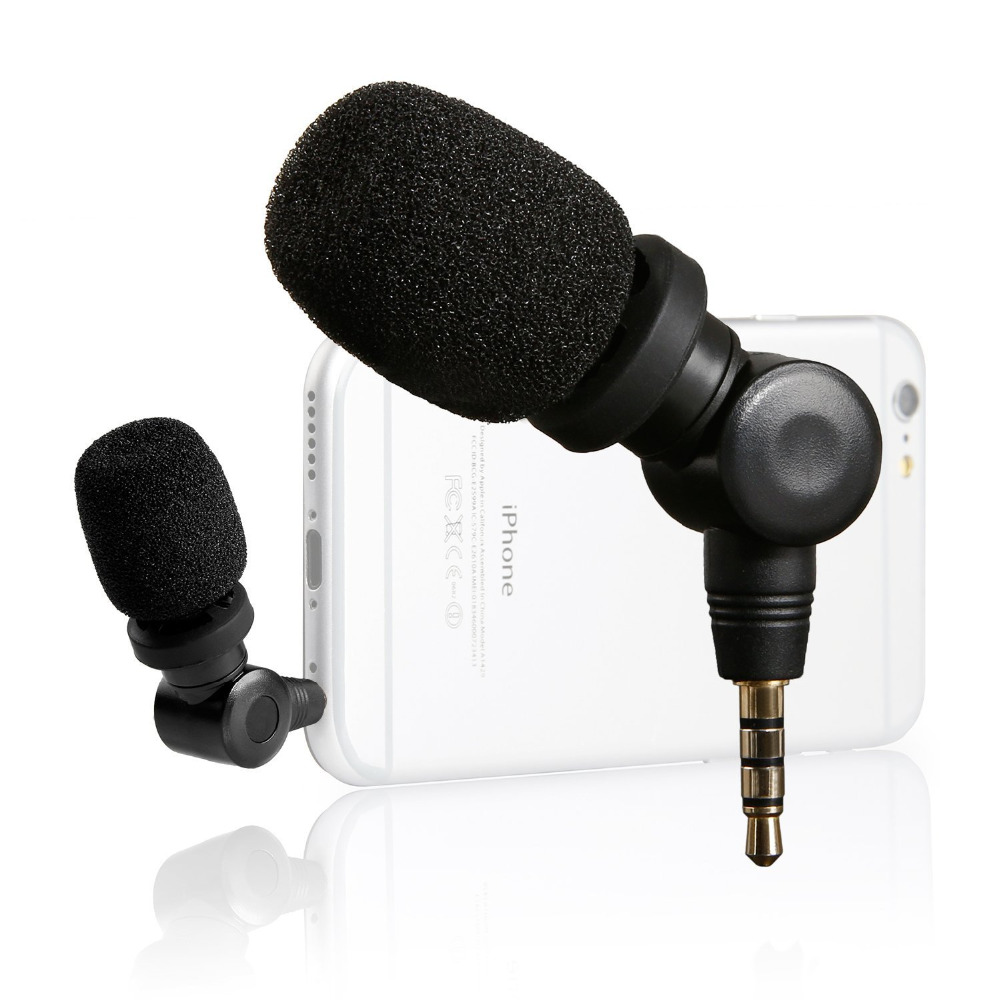 Saramonic iMic Compact Mini Directional Microphone for Apple iPhone 7s 6s 7 6 plus Samsung Huawei HTC Smartphones Recorder Mic