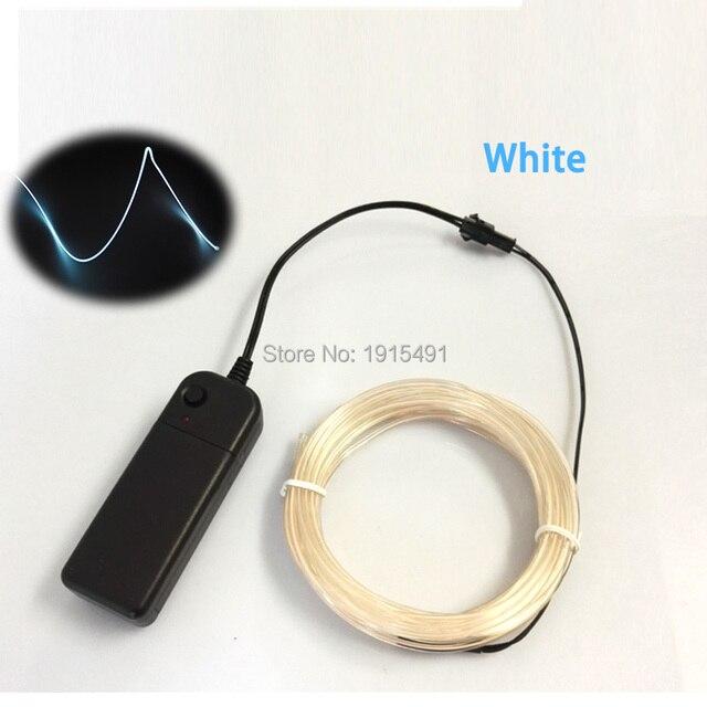 Brightness Christmas Decor 2.3mm White 3Meters Neon Led Strip EL ...