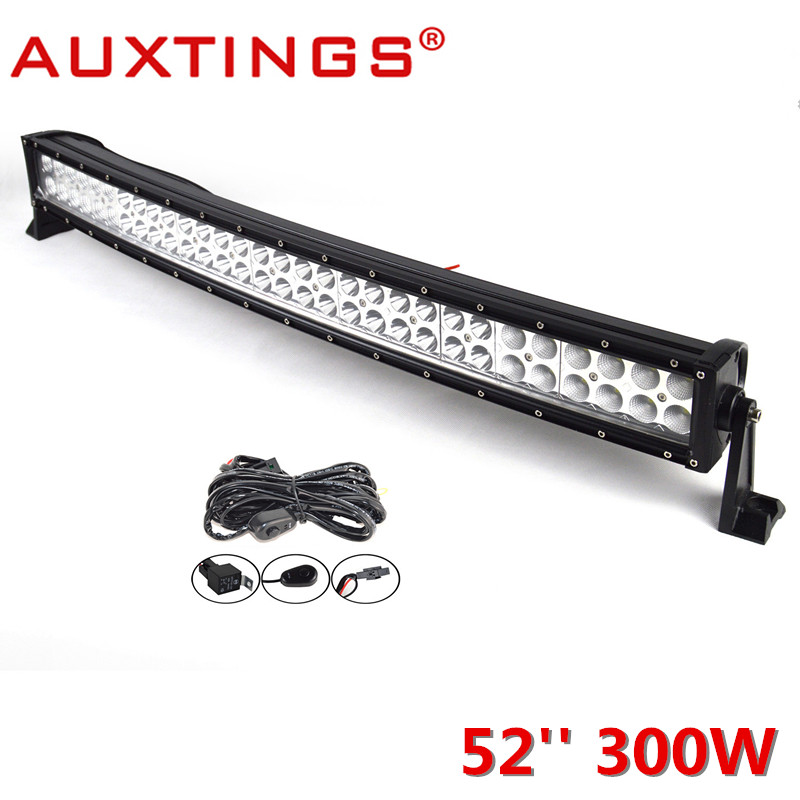 Auxtings High Power 300W 52inch CE RoHS Double Rows IP67 Work Light Bar Car LED Light Bar Combo Beam Led Auto 4x4 offroad 2pcs lot ip67 single rows 120w led work light bar 4x4 accessory led driving lights black house