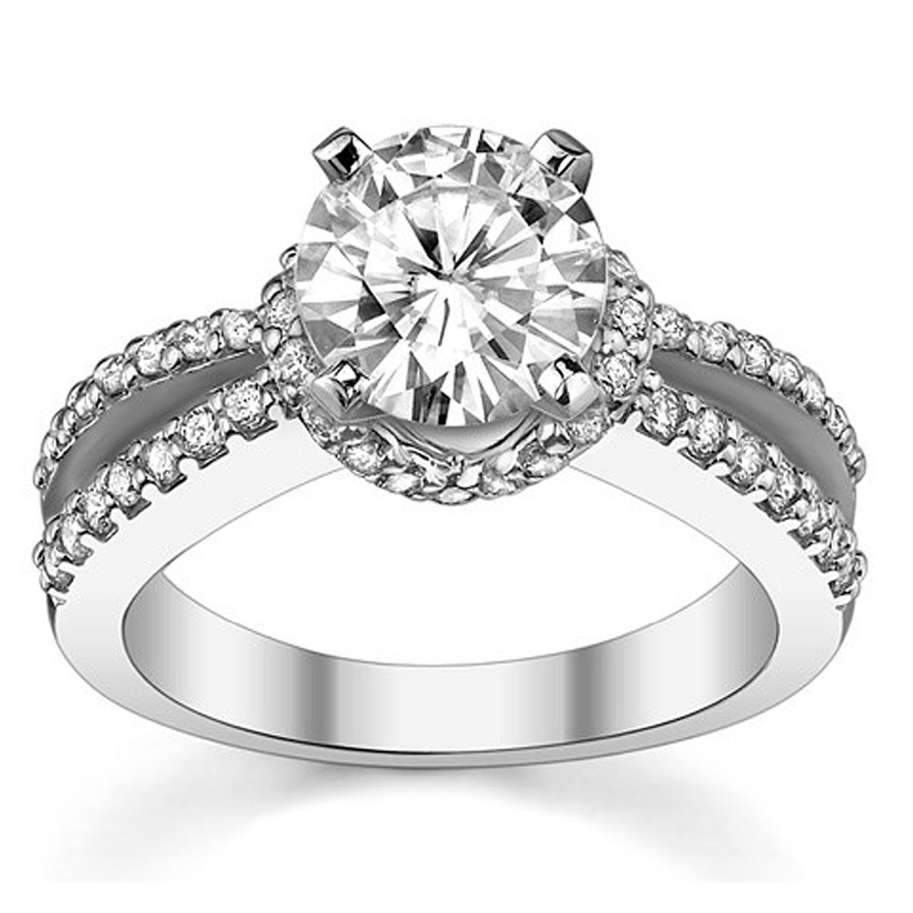Wedding Ring Styles: Noble European Evening Gown Style Engagement Rings For