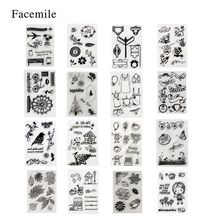 Facemile 1PCS Clear Stamp Christmas Valentine Transparent Stamp For DIY Scrapbooking/Card Making/ Decoration Supplies decora 1pcs star dreams design silicone transparent clear stamp diy scrapbooking christmas decoration supplies