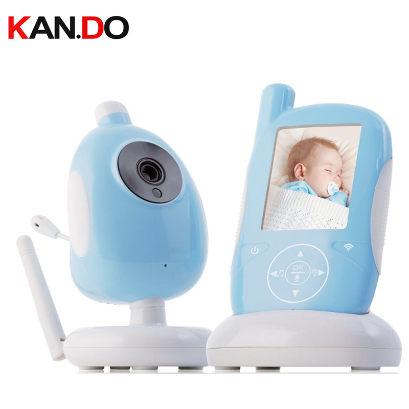 Baby Mnoitors IR Night vision Lullabies Temperature Monitor Touchable Key Baby Intercom VOX Feeding Alarm baby monitor camera
