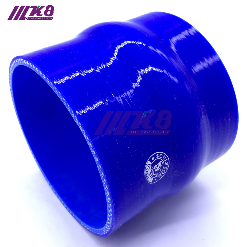 "Blue 2 1//4/"" 57mm Silicone Straight Hump Coupler Hose Turbo Intercooler Pipe"