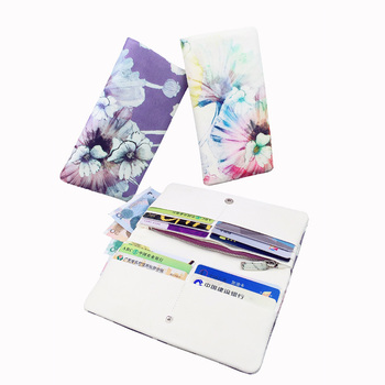 Cas De Clé De Concepteur | Portefeuille Femme En Cuir Véritable Long Design Portefeuille Impression Florale Notecase Filles Burse Porte-monnaie Porte-monnaie