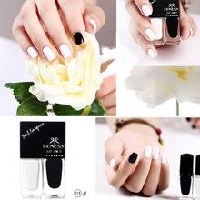 10ml Peel Off Nail Polish Black & White Water-based Eco-friendly Nail Art Varnish Polish 01#