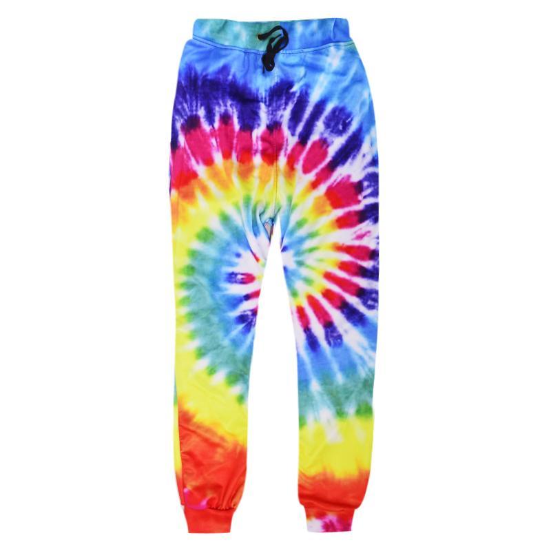 Raisevern 2019 New Fashion Sweatpants Joggers 3D Rainbow Circle Full Printing Pants Men Women Harajuku Trousers Dropship