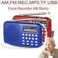 L-065am портативный mp3-плеер мини-usb-динамик AM мини-fm автоматического сканирования AM FM радиоприемник с диктофоном TF микро-sd-карта слот