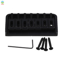 83mm length Black 7 String Fixed Type Bridge Replacement for Electric Guitar with Screws Wrench