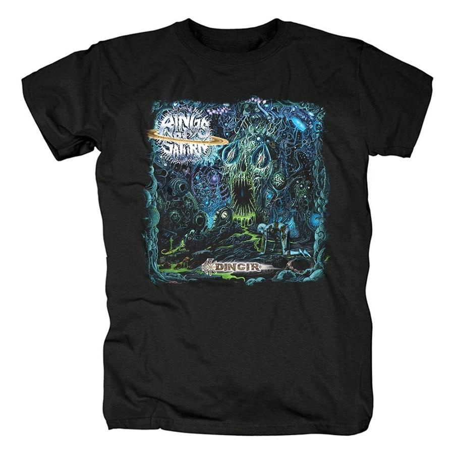 15 дизайнерских колец Сатурн инопланетянин группа рок брендовая рубашка Hardrock heavy thrash Metal deathcore хлопковая Футболка camiseta уличная одежда - Цвет: 15
