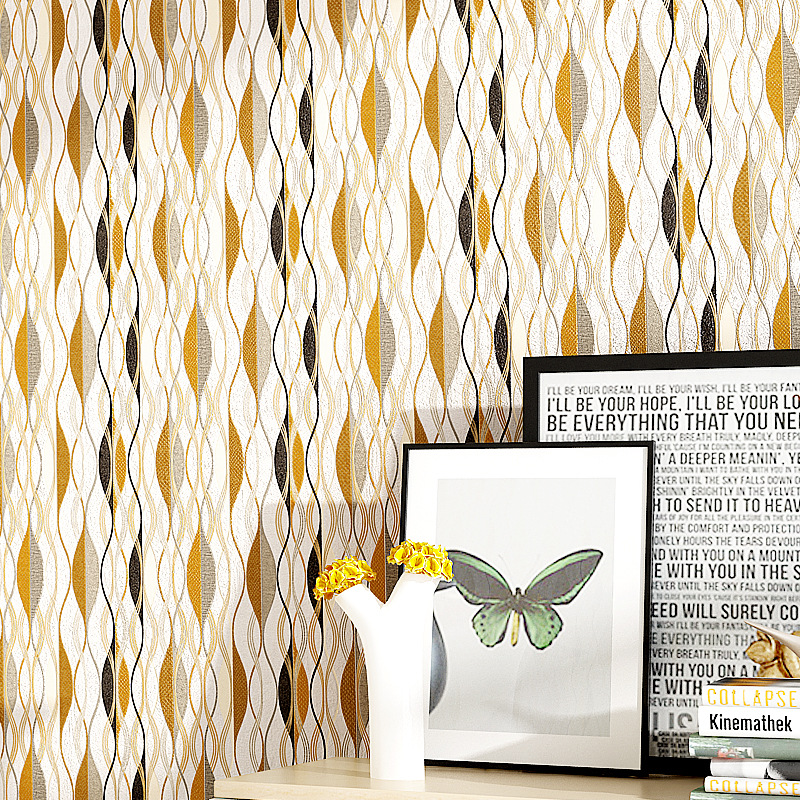 Beibehang minimaliste européen profond en relief ondulé papier peint mur arc noir et blanc abstrait chambre fond papier peint
