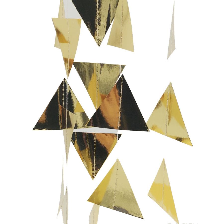 Nicro 3M trekëndëshat e artë Garland Garland Krishtlindjeve Wall - Furnizimet e partisë - Foto 5