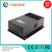 Great price!high quality MPPT 6415 60A 60amp 12v/24v/48v work mppt Charge controller solar panel regulator