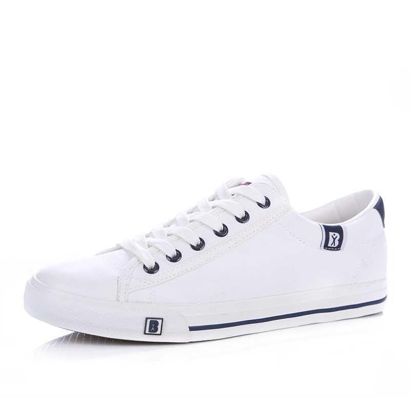 Yeni Varış Bahar Yaz Rahat rahat ayakkabılar Erkek kanvas ayakkabılar Erkekler Lace-Up Marka Moda Düz Mokasen Ayakkabı
