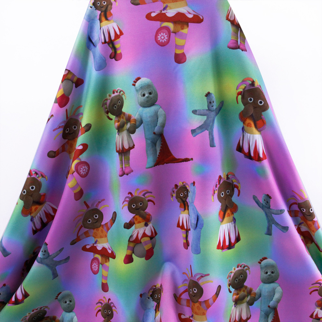 50*145cm In the night garden 4 ways stretch knit fabric for Tissue ...