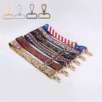 4 מתכת צבעים! DIY 140 cm מתכוונן ארנק, תיק רצועות רחב 3.8 cm אופנה צבעוני כתף חגורות, רצועות לתיקים