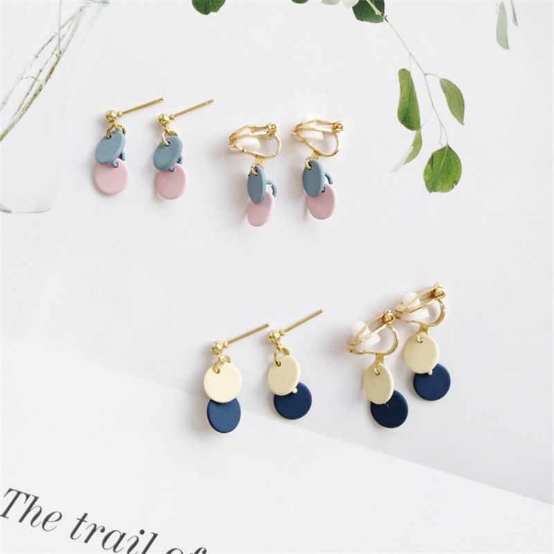 495c3a503 XEDZ Creative Korea Simple Original Mini Hit Color Small Round Earrings  Wild Round Fashion Ladies Accessories