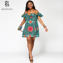 African Dresses Women 2017 Hot Cotton Polyester Selling National Dress And New Women's Batik Printing A Single Word Of Shawl