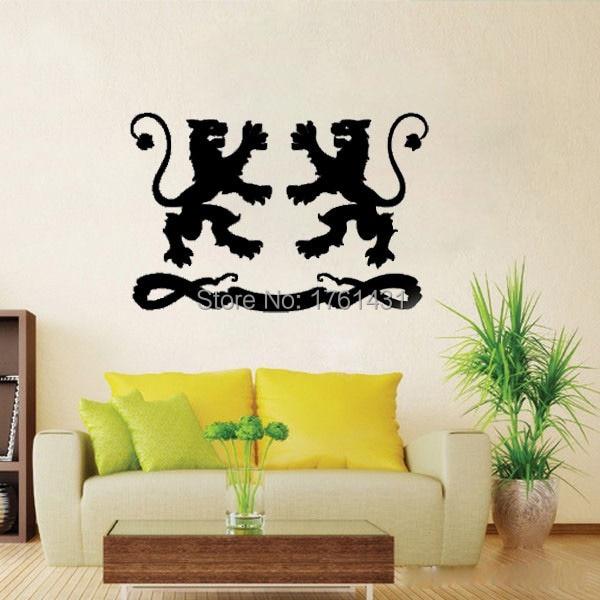Heraldische Leeuwen muurstickers vinyl stickers home decor woonkamer ...