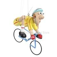 Bebek Oyuncakları Çocuklar Için Ahşap Oyuncaklar Sarı Bisiklet Racer Ahşap Asılı Oyuncaklar Peri Masalı Bebek Hediye Montessori