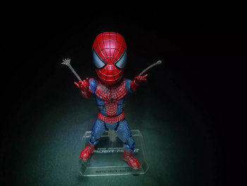 Hot Egg Attack Action EAA-001 The Amazing Spider-Man 2 Marvel Super Hero Spider Man Peter Parker Cute 18CM Action Figure
